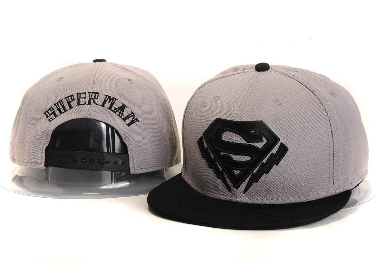 Super Man Grey Snapback Hat YS