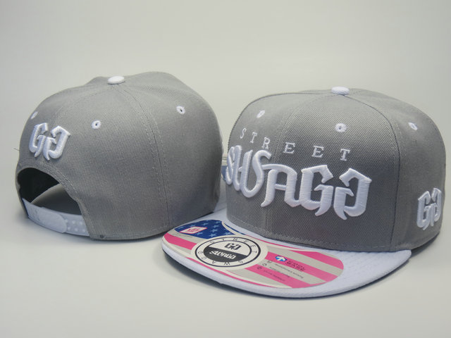 Street Swagg Grey Snapback Hat LS 1 0613