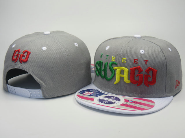 Street Swagg Grey Snapback Hat LS 0613