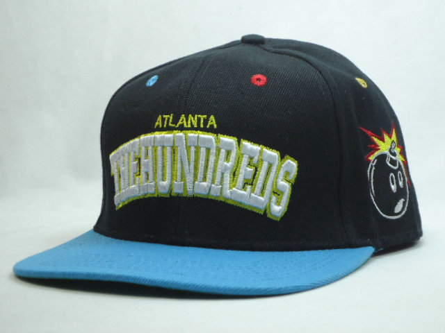 THE HUNDREDS Black Snapback Hat SF