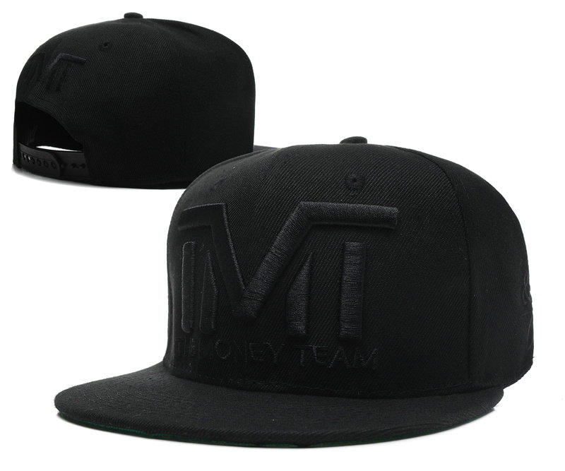 TMT Black Snapback Hat SD