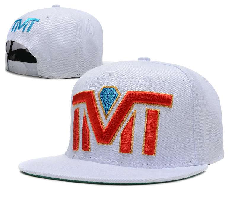 TMT Diamond White Snapback Hat SD