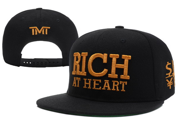 TMT Rich At Heart Black Snapback Hat XDF