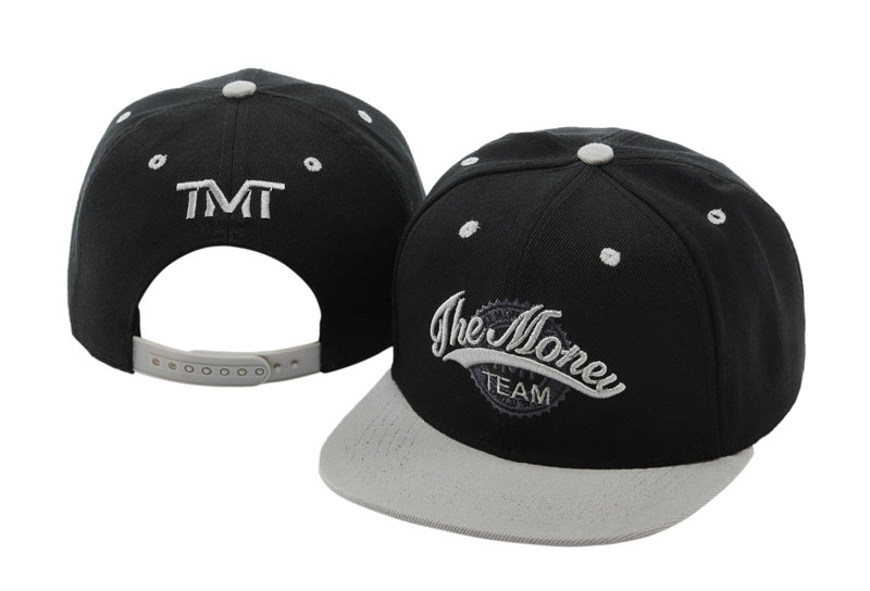 TMT Courtside Black Snapback Hat TY 0701