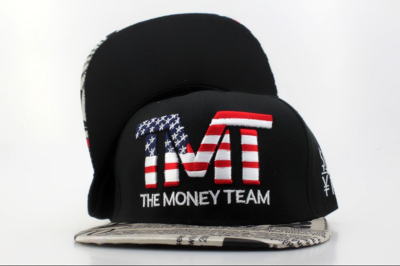 TMTThe Money Team Black Snapback Hat QH 1 0701