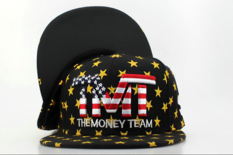 TMTThe Money Team Black Snapback Hat QH 0701