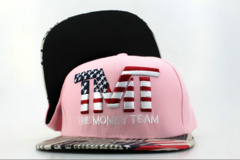 TMTThe Money Team Pink Snapback Hat QH 0701