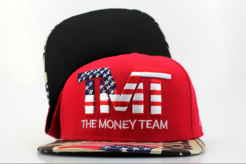 TMTThe Money Team Red Snapback Hat QH 1 0701