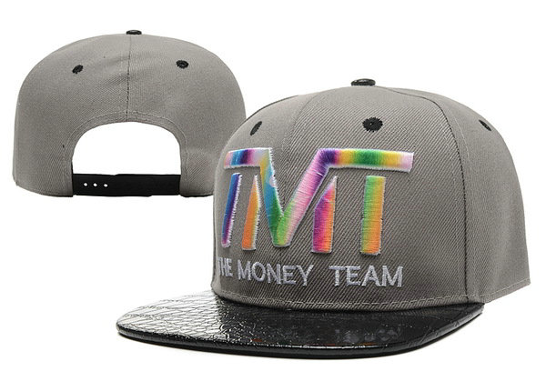 TMT The Money Team Grey Snapback Hat XDF 0526