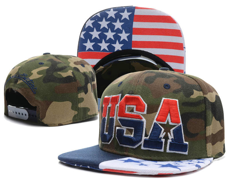 USA Camo Snapback Hat SD 0512