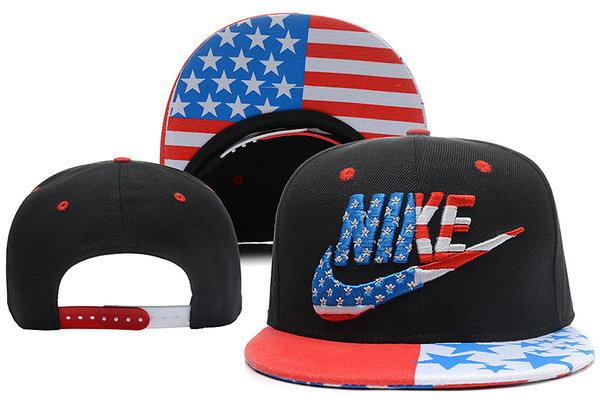 Nike USA Flag Black Snapback Hat XDF 0528