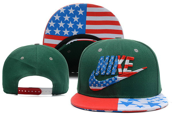 Nike USA Flag Green Snapback Hat XDF 0528