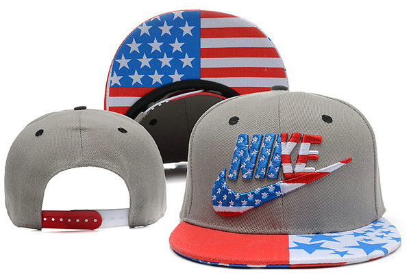 Nike USA Flag Grey Snapback Hat XDF 0528
