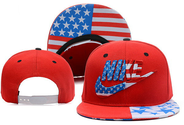 Nike USA Flag Red Snapback Hat XDF 0528