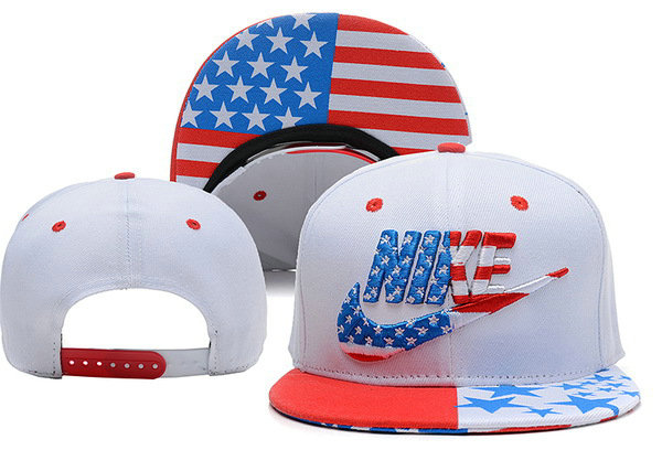 Nike USA Flag White Snapback Hat XDF 0528