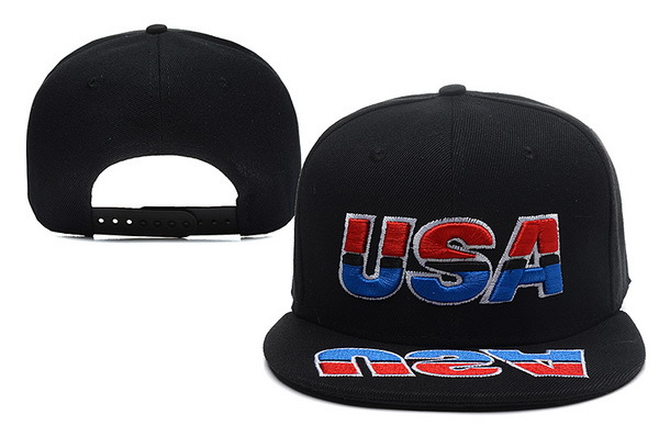 USA Black Snapback Hat XDF 0528