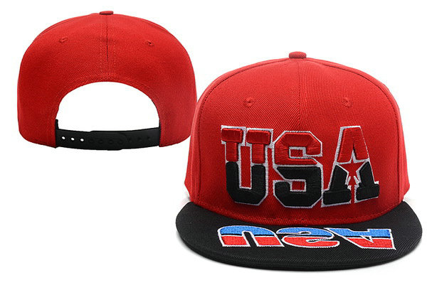 USA Red Snapback Hat XDF 0528