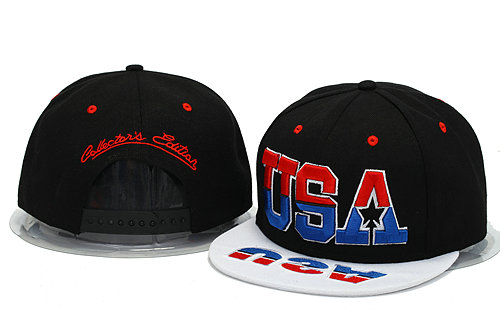 USA Black Snapback Hat YS 0606