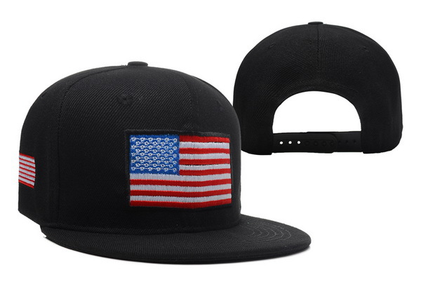 USA Flag Black Snapback Hat XDF 1 0606