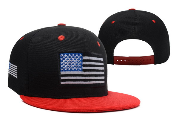 USA Flag Black Snapback Hat XDF 0606