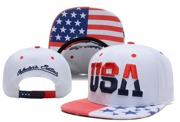 Team USA White Snapback Hat XDF
