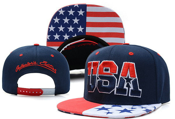 USA Blue Snapback Hat XDF