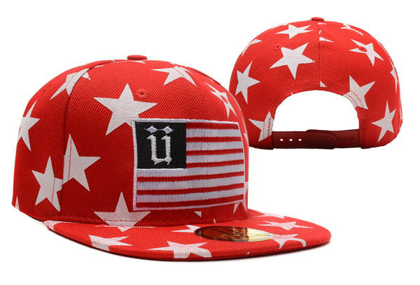 Unkut Star Red Snapback Hat XDF 0606
