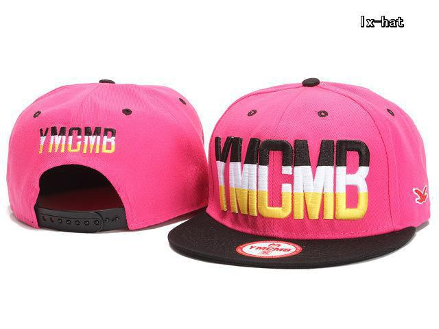 YMCMB Pink Snapback Hat GF 3