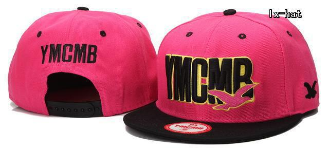 YMCMB Pink Snapback Hat GF
