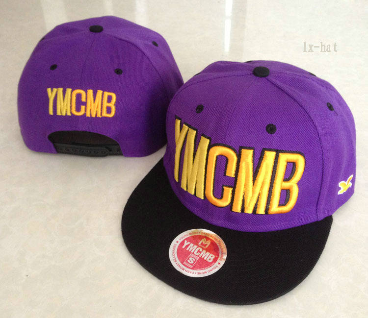 YMCMB Purple Snapback Hat GF 1