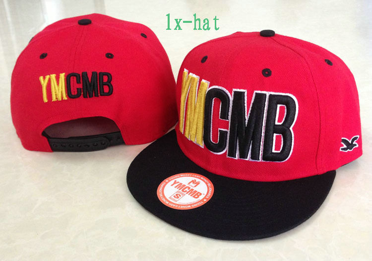 YMCMB Red Snapback Hat GF 1
