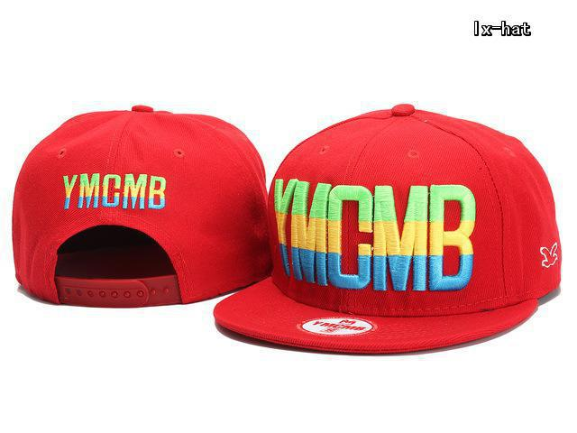 YMCMB Red Snapback Hat GF 2