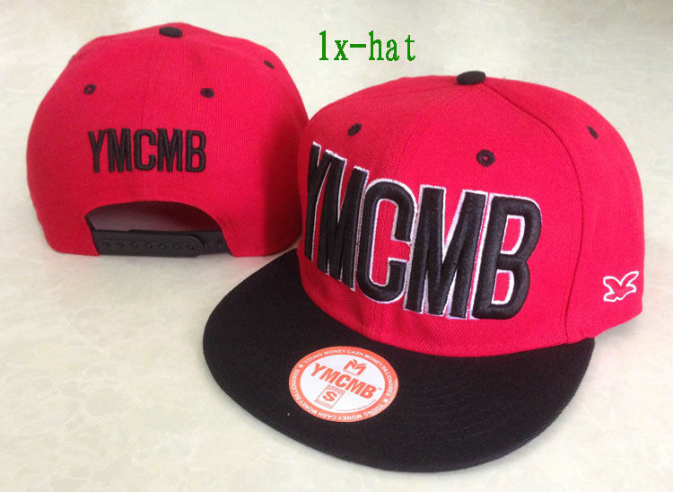 YMCMB Red Snapback Hat GF