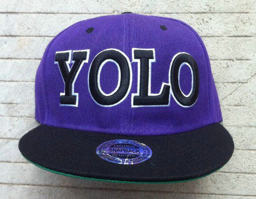 YOLO Purple Snapback Hat GF