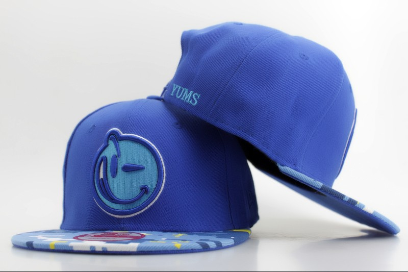 YUMS Blue Snapback Hat ZY 0512