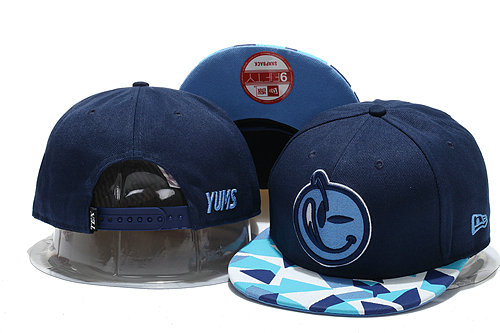 Yums Navy Snapback Hat YS 0721