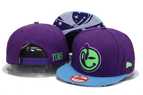Yums Purple Snapback Hat YS 1 0606