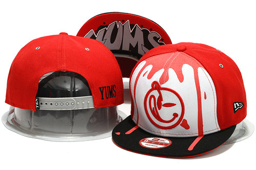 Yums Red Snapback Hat YS 0701