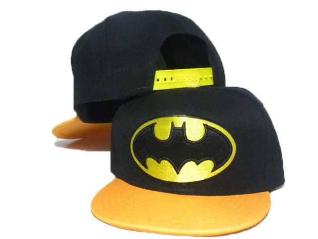 Kids Batman Black Snapback Hat DD 1