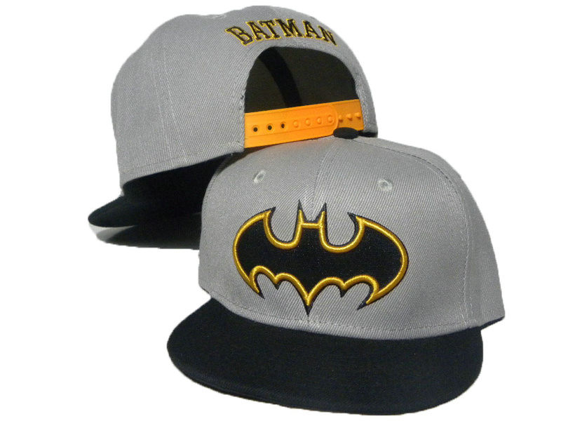 Kids Batman Grey Snapback Hat DD