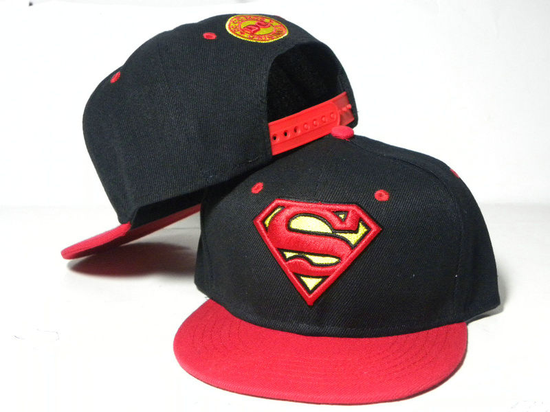 Kids Super Man Black Snapback Hat DD