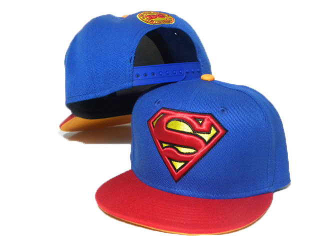 Kids Super Man Blue Snapback Hat DD