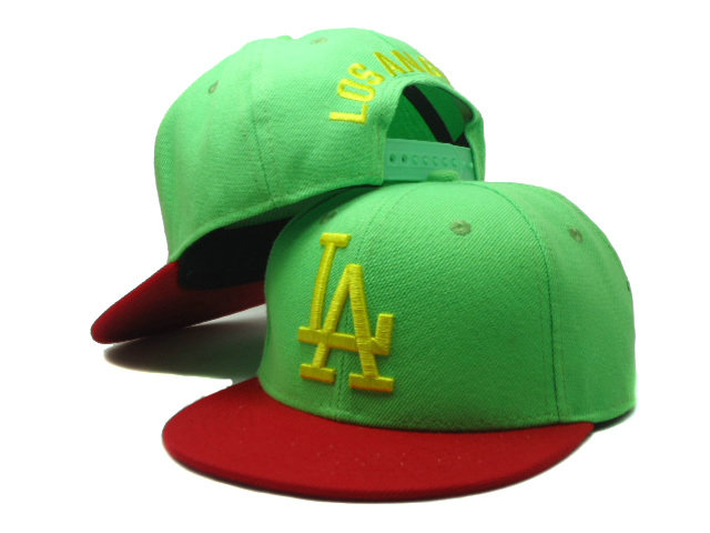 Kids Los Angeles Dodgers Green Snapback Hat SF