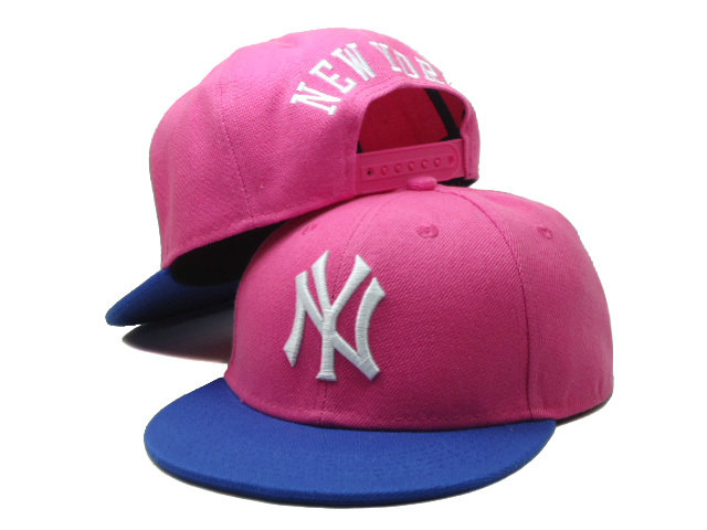 Kids New York Yankees Pink Snapback Hat SF