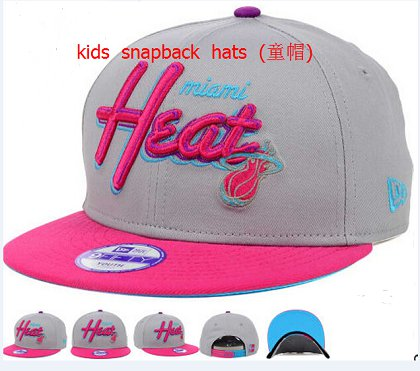 Kids Miami Heat Snapback Hat 60D 140802 1