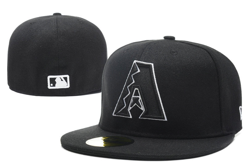 Arizona Diamondbacks Black Fitted Hat LX 0701