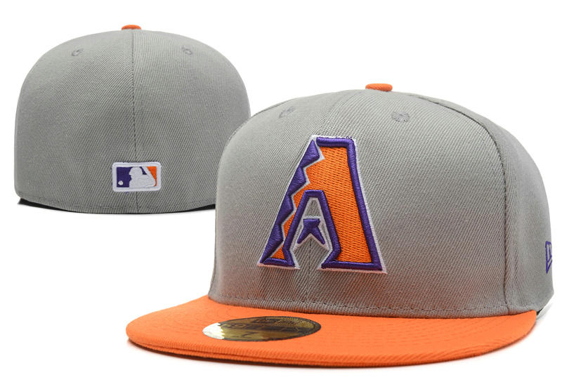 Arizona Diamondbacks Grey Fitted Hat LX 0701