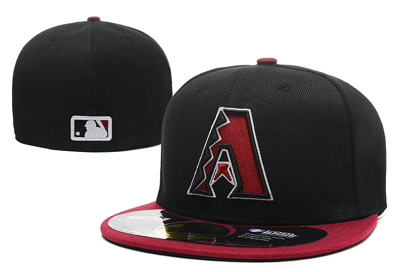 Arizona Diamondbacks Black Fitted Hat LX 0721