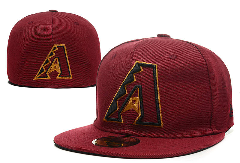 Arizona Diamondbacks Red Fitted Hat LX 0721
