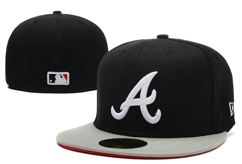 Atlanta Braves Black Fitted Hat LX 0721